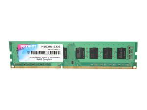 Patriot Signature 4GB 240-Pin DDR3 SDRAM DDR3 1333 (PC3 10600) Desktop Memory Model PSD34G13332