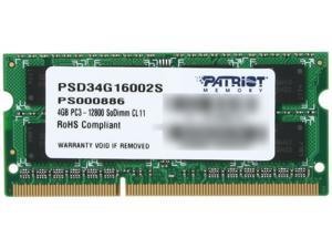 Patriot Signature 4GB 204-Pin DDR3 SO-DIMM DDR3 1600 (PC3 12800) Laptop Memory Model PSD34G16002S