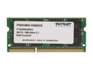 Patriot Signature 8GB 204-Pin DDR3 SO-DIMM DDR3 1600 (PC3 12800) Laptop Memory Model PSD38G16002S