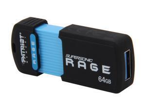 Patriot Supersonic Rage XT 64GB USB 3.0 Flash Drive Model PEF64GSRUSB
