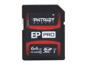Patriot EP Pro Series 64GB UHS-1 Secure Digital Extended Capacity (SDXC) Flash Card Model PEF64GSXC10333