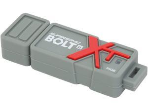 Patriot Supersonic Bolt XT 64GB USB Flash Drive 256bit AES Encryption Model PEF64GSBTUSB