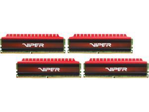 Patriot Viper 4 32GB (4 x 8GB) 288-Pin DDR4 SDRAM DDR4 2400 (PC4 19200) Extreme Performance Quad Memory Kit Model PV432G240C5QK