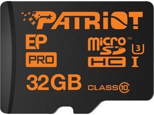 Patriot EP Pro Series 32GB microSDHC Flash Card Model PEF32GEPMCSHC10