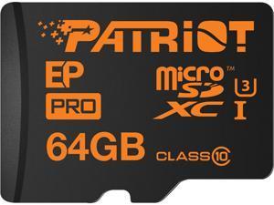 Patriot EP Pro Series 64GB microSDXC Flash Card Model PEF64GEPMCSXC10