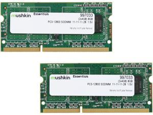 Mushkin Enhanced Essentials 8GB (2 x 4GB) 204-Pin DDR3 SO-DIMM DDR3 1600 (PC3 12800) Laptop Memory Model 997033