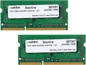 Mushkin Enhanced Blackline 16GB (2 x 8G) 204-Pin DDR3 SO-DIMM DDR3 1600 (PC3 12800) Laptop Memory Model 997067