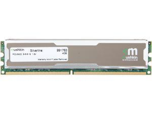 Mushkin Enhanced Silverline 4GB 240-Pin DDR2 SDRAM DDR2 800 (PC2 6400) Desktop Memory Model 991763
