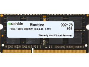Mushkin Enhanced Blackline 8GB 204-Pin DDR3 SO-DIMM DDR3L 1600 (PC3L 12800) Laptop Memory Model 992178