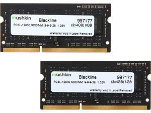 Mushkin Enhanced Blackline 8GB (2 x 4GB) 204-Pin DDR3 SO-DIMM DDR3L 1600 (PC3L 12800) Laptop Memory Model 997177