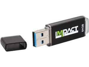 Mushkin 64GB Impact USB 3.0 (MLC NAND) Flash Drive Model MKNUFDIM64GB