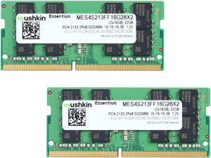 Mushkin Enhanced Essentials 32GB (2 x 16G) 260-Pin DDR4 SO-DIMM DDR4 2133 (PC4 17000) Laptop Memory Model MES4S213FF16G28X2TBD