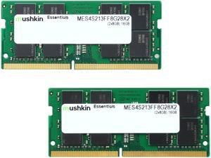 Mushkin Enhanced Essentials 16GB (2 x 8G) 260-Pin DDR4 SO-DIMM DDR4 2133 (PC4 17000) Laptop Memory Model MES4S213FF8G28X2TBD