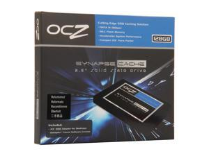 "Manufacturer Recertified OCZ Synapse Cache SYN-25SAT3-128G 2.5"" 128GB (64GB cache capacity) SATA III MLC Internal Solid State ..."
