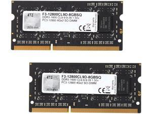 G.SKILL 8GB (2 x 4GB) 204-Pin DDR3 SO-DIMM DDR3 1600 (PC3 12800) Laptop Memory Model F3-12800CL9D-8GBSQ