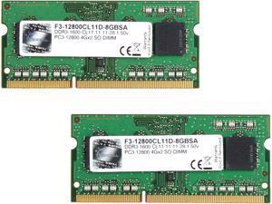 G.SKILL 8GB (2 x 4GB) 204-Pin DDR3 SO-DIMM DDR3 1600 (PC3 12800) Laptop Memory Model F3-12800CL11D-8GBSA
