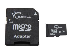 G.SKILL 32GB microSDHC Flash Card w/ SD Adapter Model FF-TSDG32GA-C6