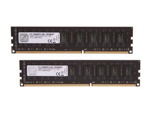 G.SKILL Value Series 16GB (2 x 8GB) 240-Pin DDR3 SDRAM DDR3 1333 (PC3 10600) Desktop Memory Model F3-10600CL9D-16GBNT
