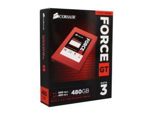 """Corsair Force Series GT 2.5"""" 480GB SATA III Internal Solid State Drive (SSD) CSSD-F480GBGT-BK"""