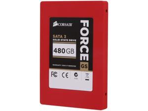 "Corsair Force Series GS 2.5"" 480GB SATA III Internal Solid State Drive (SSD) CSSD-F480GBGS-BK"