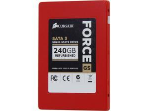 "Corsair Certified Force Series GS 240GB Sata III Internal 2.5"" Solid State Drive (CSSD-F240GBGS/RF2)"