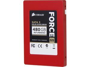 "Manufacturer Recertified Corsair Force Series GS 2.5"" 480GB SATA III MLC Internal Solid State Drive (SSD) CSSD-F480GBGS/RF2"