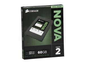 "Manufacturer Recertified Corsair Nova Series 2 CSSD-V60GB2/RF2 2.5"" 60GB SATA II Internal Solid State Drive (SSD)"