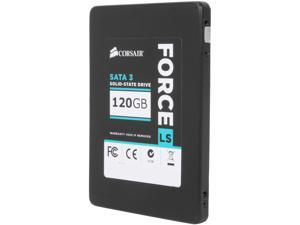 "Corsair Force LS Series CSSD-F120GBLS 2.5"" 120GB SATA III MLC Internal Solid State Drive (SSD)"
