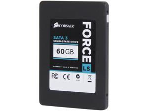 "Corsair Force LS Series 2.5"" 60GB SATA III MLC Internal Solid State Drive (SSD) CSSD-F60GBLS"