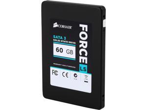 "Corsair Force LS 2.5"" 60GB SATA III MLC Internal Solid State Drive (SSD) CSSD-F60GBLSB"