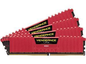 CORSAIR Vengeance LPX 16GB (4 x 4GB) 288-Pin DDR4 SDRAM DDR4 3200 (PC4 25600) Memory Kit - Red Model CMK16GX4M4B3200C16R