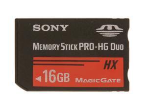 SONY 16GB Memory Stick PRO-HG Duo HX Flash Card Model MSHX16B/TQ1