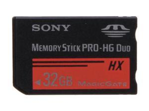 SONY 32GB Memory Stick PRO-HG Duo HX Flash Card Model MSHX32B