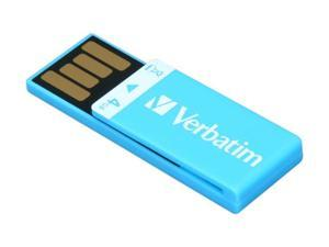 Verbatim Clip-it 4GB USB 2.0 Flash Drive (Blue) Model 97550