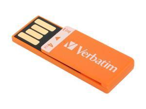 Verbatim Clip-it 4GB USB 2.0 Flash Drive (Orange) Model 97551