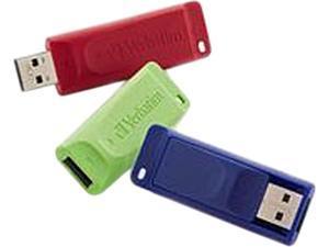 Verbatim 8GB Store n Go USB Flash Drive - 3pk - Red, Green, Blue