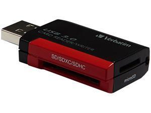 Verbatim Pocket Card Reader, USB 3.0 - Black