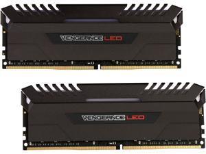 CORSAIR Vengeance LED 16GB (2 x 8GB) 288-Pin DDR4 SDRAM DDR4 3000 (PC4 24000) Memory (Desktop Memory) Model CMU16GX4M2C3000C15R
