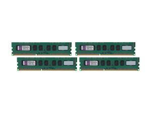 Kingston 16GB (4 x 4GB) 240-Pin DDR3 SDRAM Server Memory w/TS Model KVR1333D3E9SK4/16G