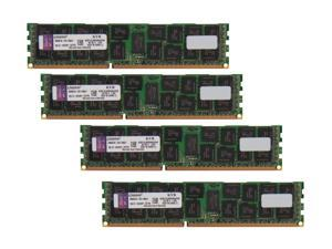 Kingston 64GB (4 x 16GB) 240-Pin DDR3 SDRAM Server Memory DR x4 1.35V Intel Model KVR13LR9D4K4/64I