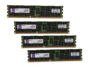 Kingston ValueRAM 64GB (4 x 16GB) 240-Pin DDR3 SDRAM ECC Registered DDR3 1333 Server Memory DR x4 Model KVR13R9D4K4/64