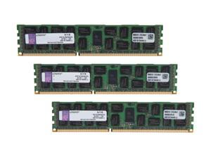 Kingston 24GB (3 x 8GB) 240-Pin DDR3 SDRAM ECC Registered DDR3 1333 Server Memory DR x4 1.35V Model KVR13LR9D4K3/24