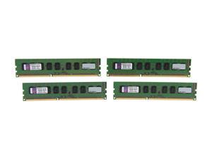 Kingston 16GB (4 x 4GB) 240-Pin DDR3 SDRAM Server Memory Model KVR16E11K4/16