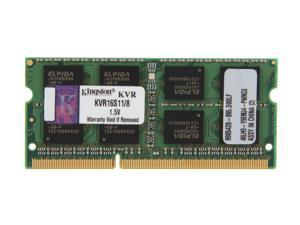 Kingston ValueRAM 8GB 204-Pin DDR3 SO-DIMM DDR3 1600 Laptop Memory Model KVR16S11/8