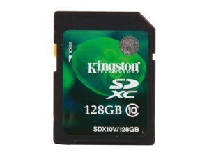 Kingston 128GB Secure Digital Extended Capacity (SDXC) Flash Card Model SDX10V/128GB