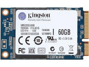 Kingston 60GB Mini-SATA (mSATA) Internal Solid State Drive (SSD) SMS200S3/60G