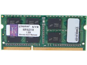 Kingston ValueRAM 8GB 204-Pin DDR3 SO-DIMM DDR3L 1600 (PC3L 12800) Laptop Memory Model KVR16LS11/8