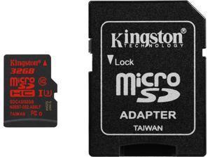 Kingston 32GB microSDHC 90R/80W Flash Card Model SDCA3/32GB