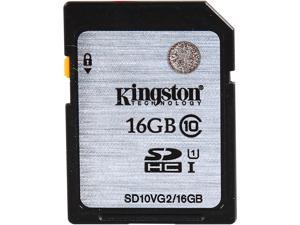 Kingston 16GB Secure Digital High-Capacity (SDHC) Flash Card Model SD10VG2/16GB
