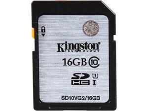 Kingston 16GB Secure Digital High-Capacity (SDHC) Flash Card Model SD10VG2/16GB